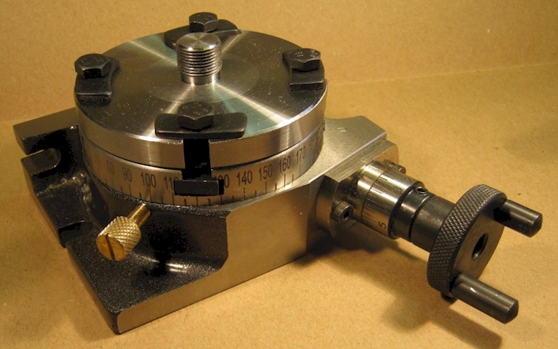 Rotary table and Unimat adaptor, as purchased
