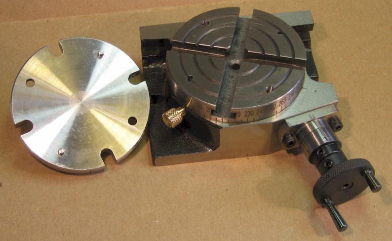 Rotary table with Unimat adaptor removed