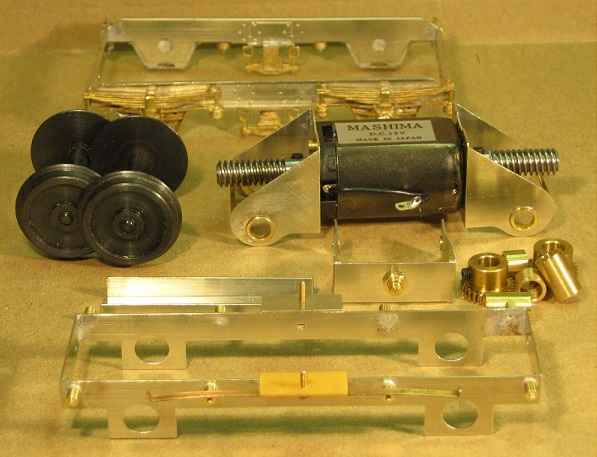 Component Parts Of An 0 Gauge Motor Bogie By Westdale Coaches