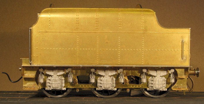 Side view: LMS Stanier 3500 gallon tender. 7mm scale (0 gauge) by David L O Smith