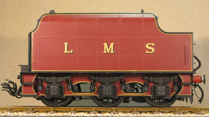 LMS 3500 gallon tender, 7mm scale (0 gauge) by David L O Smith from a david Andrew's kit.