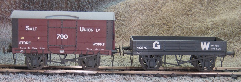 Scratch-built 7mm scale (0 gauge) wagons on 3H underframe parts