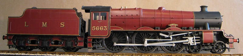 LMS Jubilee No. 5663 Jervis. Model in 7mm scale (0 gauge) by David L O Smith
