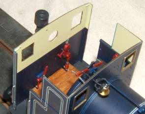 Rear cab detail of 7mm model of Andrew Barclay fireless locomotive, built by David L O Smith