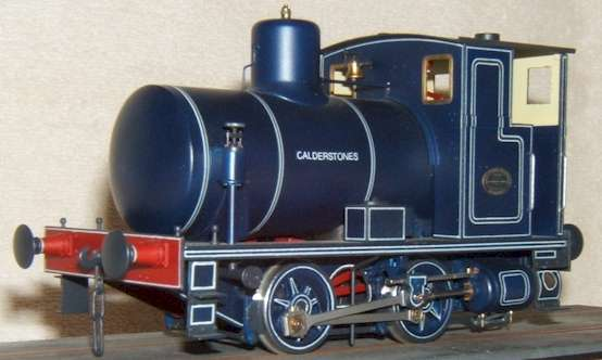 7mm scale model (O Gauge) of Andrew Barclay fireless locomotive by David L O Smith