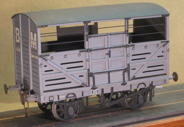Brecon and Merthyr Junction Railway cattle wagon - 7mm scale (0 gauge)