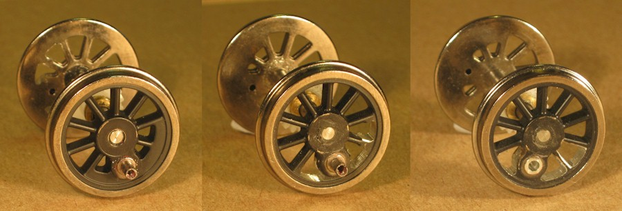 Central pair of driving wheels, Ixion Hudswell Clarke 0-6-0ST
