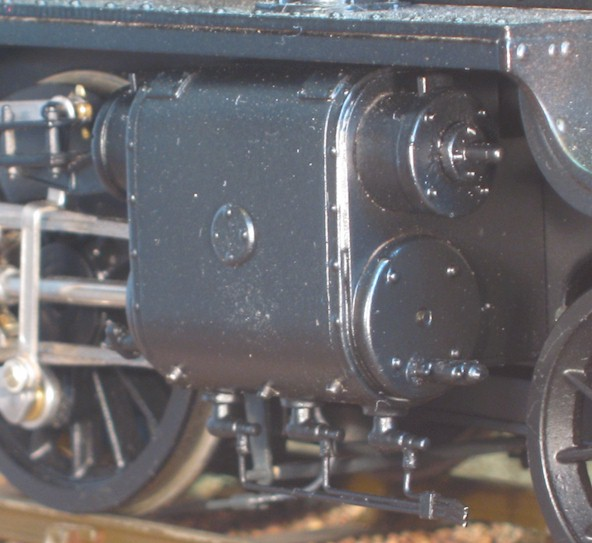 Clyinder detail - LMS 8F in 7mm scale (0 gauge)