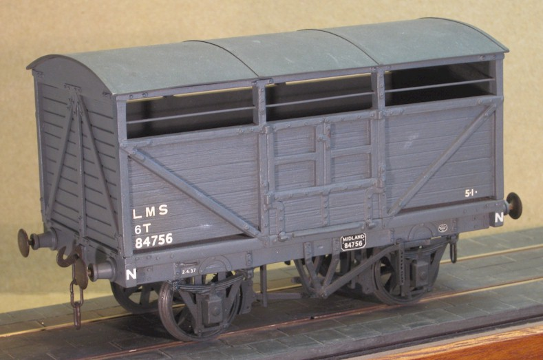 Ex Midland Railway cattle wagon - 7mm scale (0 gauge)