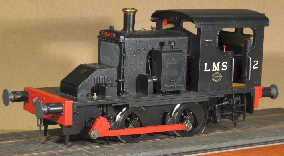 LMS Fowler 0-4-0DM - model in 7mm scale (O Gauge) by David L O Smith