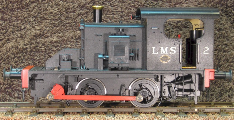 Fowler Diesel Mechanical 7mm model  (O Gauge) LHS  0-4-0DM by David L O Smith