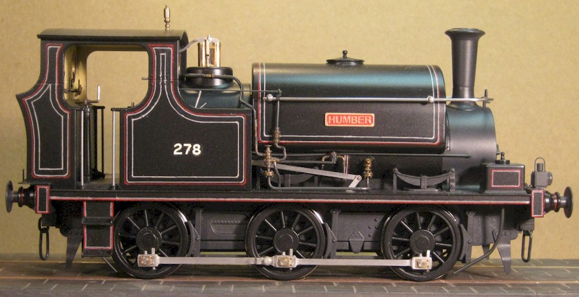 Great Central Railway Class 4 No. 278, Hudswell Clarke 0-6-0ST 'Humber', 7mm scale 0 gauge