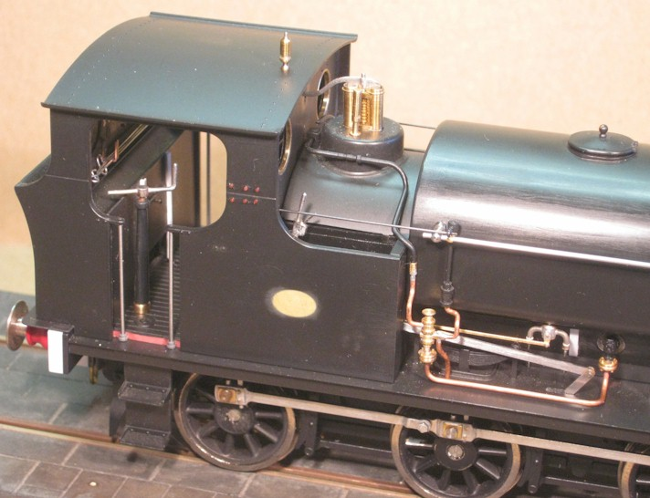 Cab, bunker and tank - modification to RHS of Ixion Hudswell Clarke 0-6-0ST