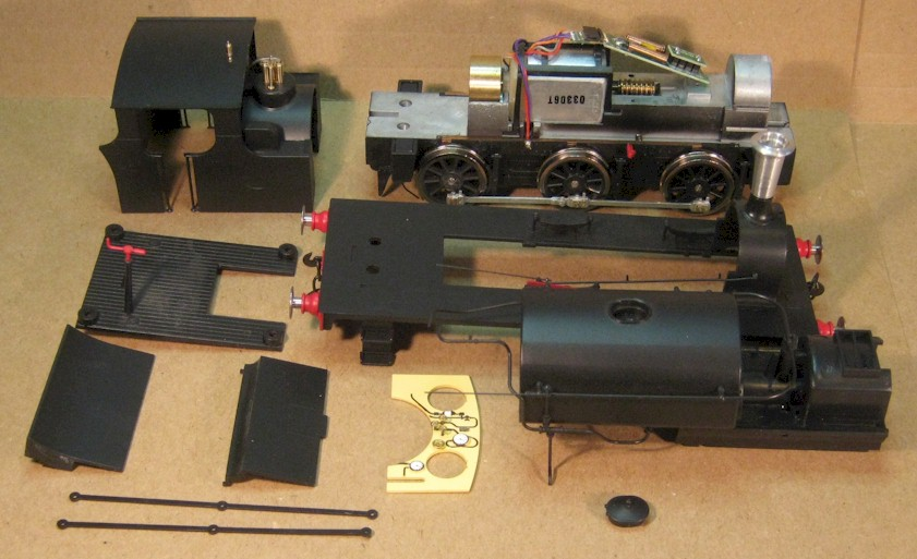 7mm scale [0 gauge] Ixion Hudswell Clarke 0-6-0ST in parts
