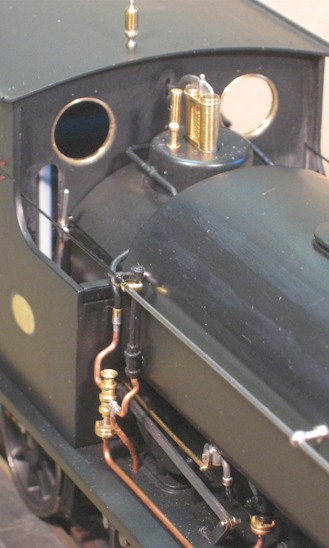 Exposed reverser on Hudswell Clarke 0-6-0ST