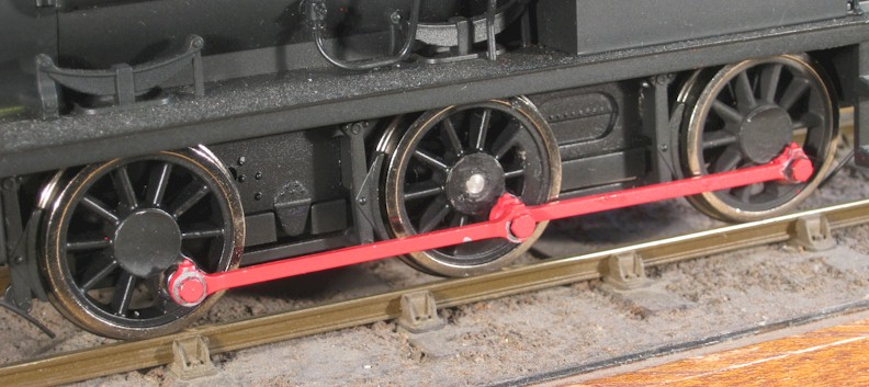 Ixion Hudswell Clarke coupling rods before