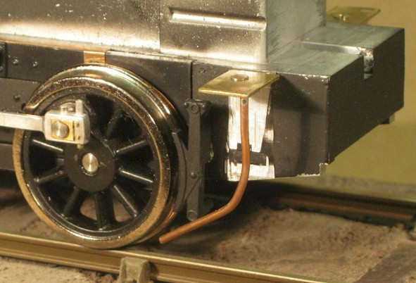 Replacement front sandpipe on Ixion Hudswell Clarke 0-6-0ST