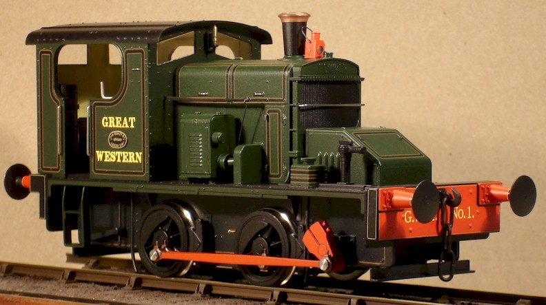 GWR No.1 Fowler 0-4-0DM 7mm (0 gauge) model by David L O Smith
