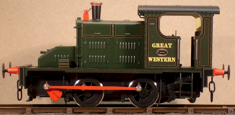 7mm model (0 gauge) GWR No.1 Folwer 0-4-0 diesel mechanical.  Ixion modified by David L O Smith LHS