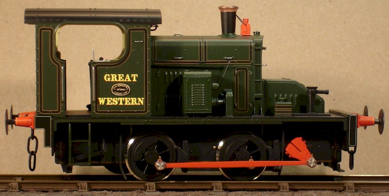7mm model (0 gauge) GWR No.1 Folwer 0-4-0 diesel mechanical.  Ixion modified by David L O Smith RHS