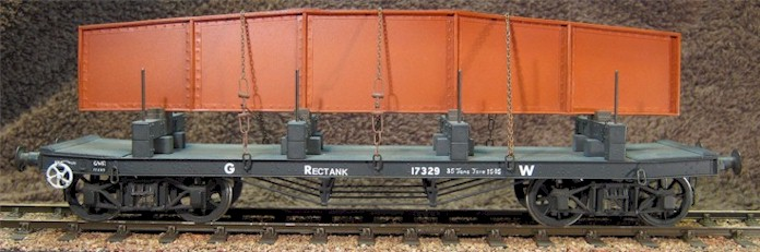 GWR Rectank - model in 7mm scale (O Gauge) by David L O Smith
