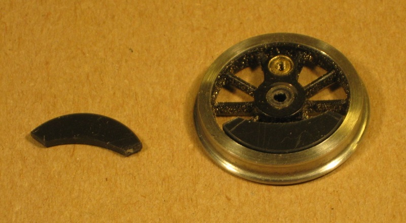 Wheel and balance weight for GWR 1361 class