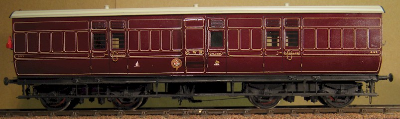 GWR K3 Passanger Luggage Van 0 gauge by Metalmodels, built by David L O Smith