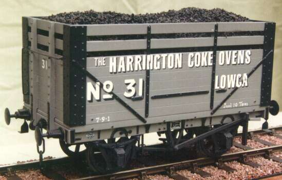 Harrington Coke Ovens PO wagon - model in 7mm scale (O Gauge) by David L O Smith