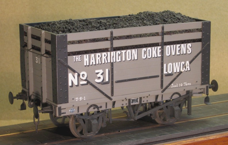 Harrington Coke 7-plank wagon wiht coke rails - 7mm scale (0 gauge)