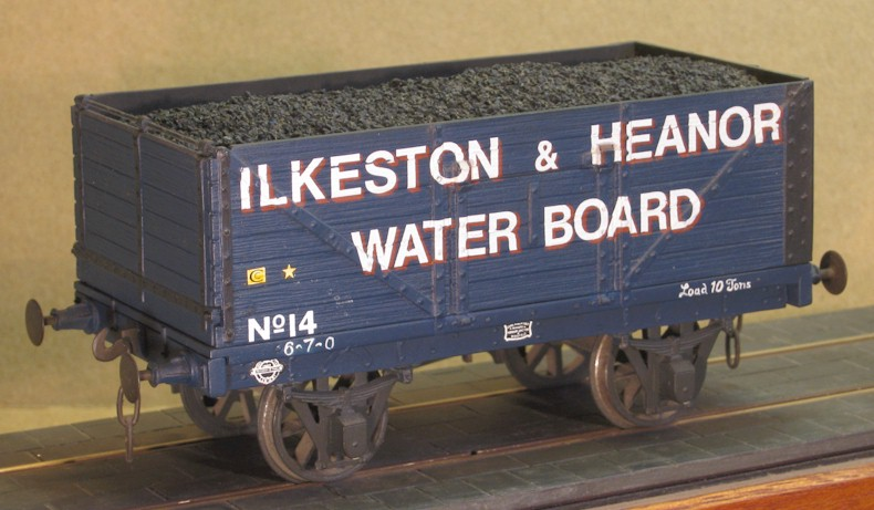 Ilkeston & Heanor Water Board 7-plank wagon - 7mm scale (0 gauge)