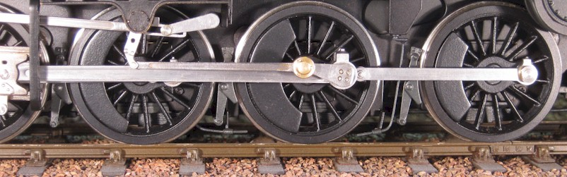 LMS 8F motion and Walschaert's valve gear