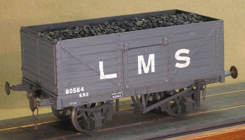 LMS  7-plank side and end door wagon - 7mm scale (0 gauge)