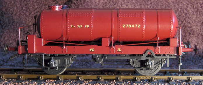 LMS gas holder truck No 278472 - side view - 7mm scale (O Gauge) by David L O Smith