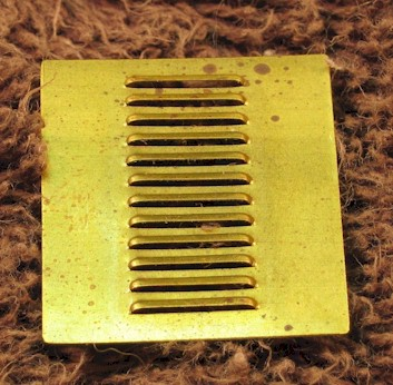 Punched louvres for 7mm scale (O Gauge) model