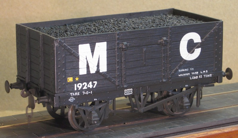 MC - Machester Collieries 7-plank wagon - 7mm scale (0 gauge)