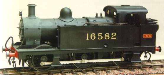 LMS 3F 0-6-0T 'jinty' - model in 7mm scale (O Gauge) by David L O Smith