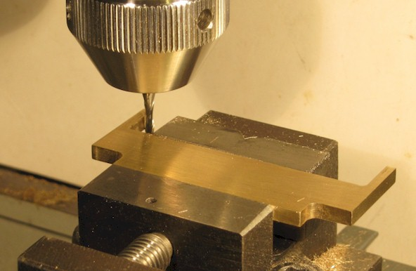 Milling on a Unimat with milling cutter held in collet