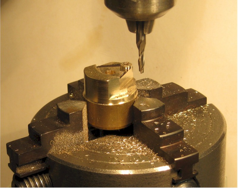 Milling a flycrank on the Unimat miller