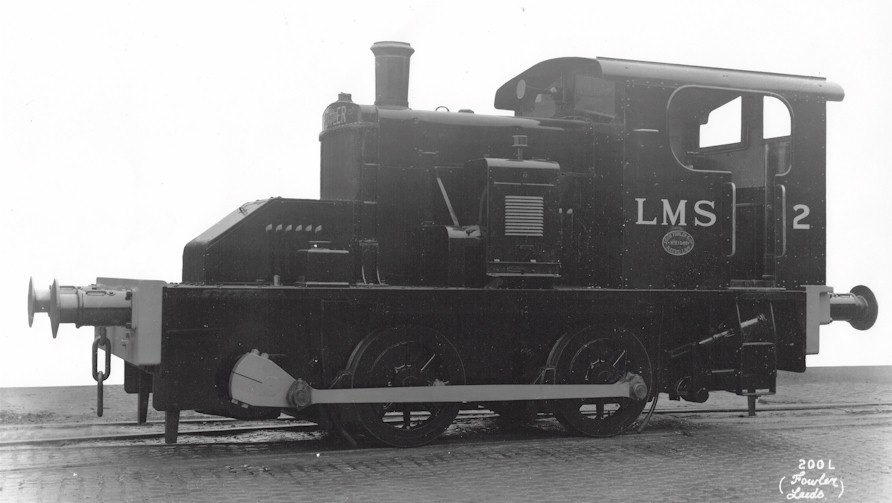 Official Works Photograph LHS of Fowler 0-4-0DM LMS No. 2