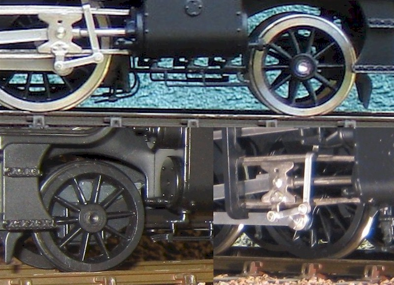 LMS 8F pony truck + modified uinion link