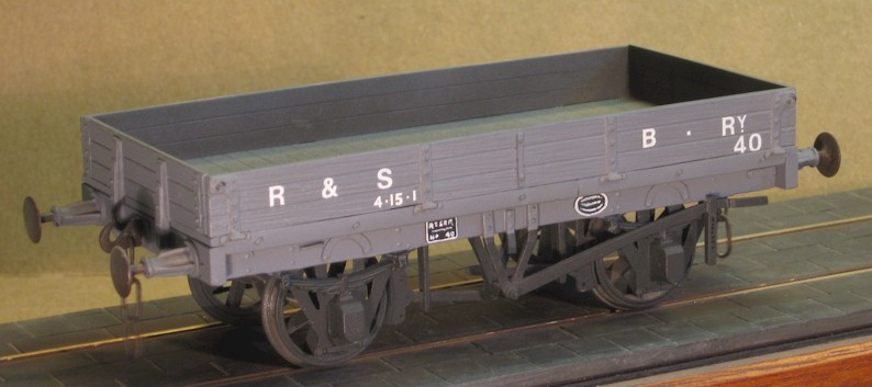 R&SBR 3-plank open wagon - 7mm scale (0 gauge)