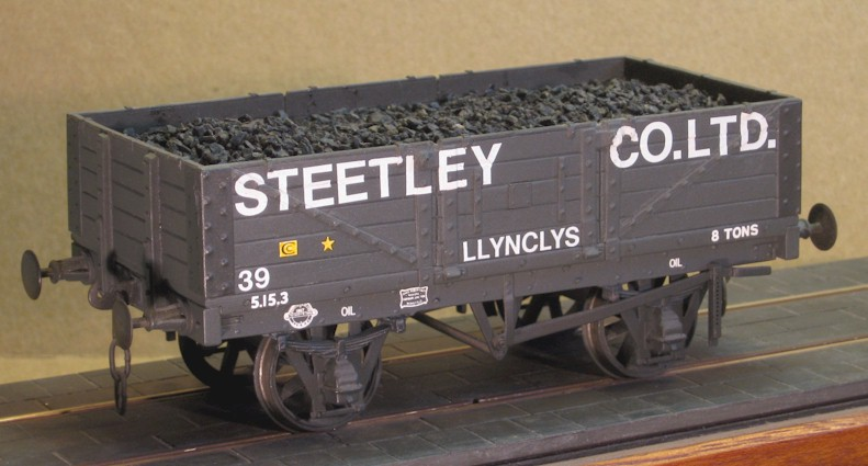 Steetly Co.Ltd. 5-plank side door wagon - 7mm scale (0 gauge)